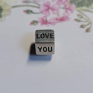 Pandora 'I LOVE YOU' charm